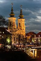Minoritenkirche in Graz, Steiermark, &Ouml;sterreich, UNESCO-Weltkulturerbe<br /> Church of Minorites, Graz, Styria, Austria, heritage site