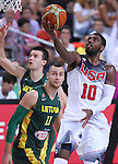 11.09.2014 Barcelona. FIBA Basketball World Cup. Semi-Finals. Picture show K. Irving in action during game Usa v Lithuania at Palau St. Jordi