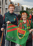Mary McGreal from Westport with her grandson Stephen Grealis at the All Ireland final replay.<br /> Pic Conor McKeown