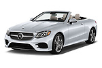 2018 Mercedes Benz E Class E400 2 Door Convertible angular front stock photos of front three quarter view