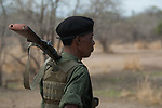 Jackson, walking safari armed guard, S. Luangwa, Zambia