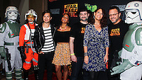 "CENTURY CITY, CA, USA - SEPTEMBER 27: ""Star Wars Rebels: Spark Of Rebellion"" cast and crew members arrive at the Los Angeles Screening Of Disney XD's ""Star Wars Rebels: Spark Of Rebellion"" held at the AMC Century City 15 Theatre on September 27, 2014 in Century City, California, United States. (Photo by Celebrity Monitor)"