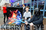 Max O'Gara and Jason Lee are battleing it out for the first screening of the new Star wars movie The Force Awakens in Killarney next Thursday l-r: Conor Hennigan, Tracy Coyne, and Kate O'Leary Declan Mulvaney