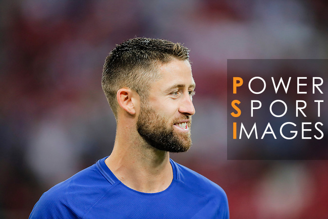 Chelsea Defender Gary Cahill during the International Champions Cup match between Chelsea FC and FC Bayern Munich at National Stadium on July 25, 2017 in Singapore. Photo by Marcio Rodrigo Machado / Power Sport Images