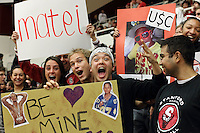 STANFORD, CA - JANUARY 6:  Student fans of the Stanford Cardinal during Stanford's 54-53 win over the USC Trojans on January 6, 2009 at Maples Pavilion in Stanford, California.