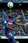 League Santander 2017/2018. Game: 28.<br /> FC Barcelona vs At. Madrid: 1-0.<br /> Samuel Umtiti.