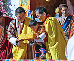 29.12.2017; Haa, Bhutan: PRINCE JIGME AND KING WANGCHUCK OF BHUTAN<br /> attend the National Day celebrations in Haa.<br /> Picture shows: The King, the Fourth Druk Gyalpo and Prince Jigme, The Gyalsey, receives the Ku Sung Thuk Ten (symbollic offerings) from the people of Haa.<br /> Mandatory Credit Photo: &copy;NEWSPIX INTERNATIONAL<br /> <br /> IMMEDIATE CONFIRMATION OF USAGE REQUIRED:<br /> Newspix International, 31 Chinnery Hill, Bishop's Stortford, ENGLAND CM23 3PS<br /> Tel:+441279 324672  ; Fax: +441279656877<br /> Mobile:  07775681153<br /> e-mail: info@newspixinternational.co.uk<br /> Please refer to usage terms. All Fees Payable To Newspix International