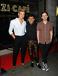Archie Oliver, Raghav Tibrewal, Kevin May  at the Farzi Cafe launch Event, Haymarket London