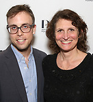 Mark Sonnenblick and Deborah Zoe Laufer attend the reception for the 2018 Presentation of New Works by the DGF Fellows on October 15, 2018 at the Playwrights Horizons Theatre in New York City.