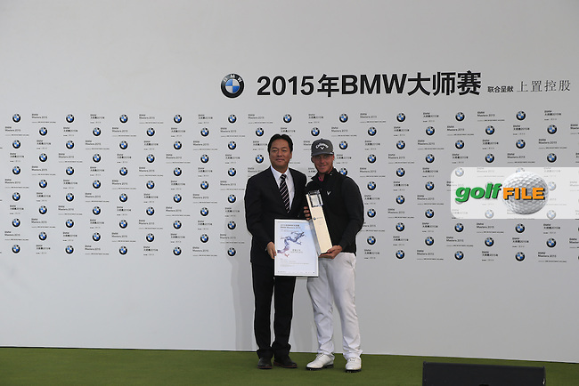 Kristoffer Broberg (SWE) wins the BMW Masters at Lake Malaren Golf Club in Boshan, Shanghai, China on Sunday 15/11/15.<br /> Picture: Thos Caffrey | Golffile<br /> <br /> All photo usage must carry mandatory copyright credit (&copy; Golffile | Thos Caffrey)
