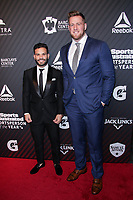 NEW YORK, NY - DECEMBER 5:  Jose Altuve and  J.J. Watt at the 2017 Sports Illustrated Sportsperson Of The Year Awards at Barclays Center on December 5, 2017 in New York City. Credit: Diego Corredor/MediaPunch /NortePhoto.com NORTEPHOTOMEXICO