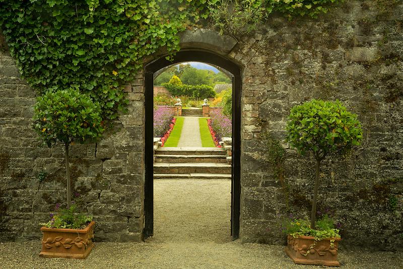 Entry into the Gardens at Dromoland Castle. Ireland
