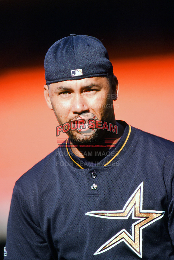 Jose Lima of the Houston Astros before a 1999 Major League Baseball season game against the Los Angeles Dodgers in Los Angeles, California. (Larry Goren/Four Seam Images)