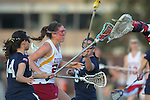 Santa Barbara, CA 02/18/12 - Lauren Littleton (Arizona State #24) and Nikkala Searle (BYU #14) in action during the Arizona State vs BYU matchup at the 2012 Santa Barbara Shootout.  BYU defeated Arizona State 10-8.