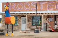 Rooster Mexican Restaurant revitalized an old Route 66 gas station, known locally as the Nell Shell Station, on Route 66 in Vega Texas.