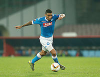 Napoli's Miguel Allan  during the Europa  League Group D soccer match between SSC Napoli and Midtjylland at the San Paolo  Stadium in NaplesNovember 05, 2015