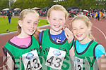Laura O'Carroll, Liana Williams, Jane Doyle Spa/Barrow/Fenit who ran in the Denny Kerry Community Games finals in Castleisland on Saturday