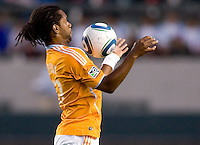 Houston Dynamo defender Adrian Serioux (51) with a nice trap. The Houston Dynamo defeated CD Chivas USA 2-0 at Home Depot Center stadium in Carson, California on Saturday May 8, 2010.  .