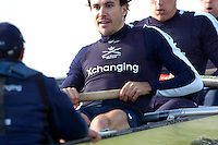 PUTNEY, LONDON, ENGLAND, 19.03.2006, Pre 2006 Boat Race Fixture, Oxford UBC vs  Imperial BC. over the Championship Course, from Putney to Mortlake.   © Peter Spurrier/Intersport-images.com.Oxford, Stroke, Bastien Ripoll, [Mandatory Credit Peter Spurrier/ Intersport Images][Mandatory Credit Peter Spurrier/ Intersport Images] Varsity Boat Race, Rowing Course: River Thames, Championship course, Putney to Mortlake 4.25 Miles