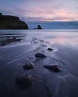 Scenic beach at Talisker Bay, Isle of Skye, Scotland