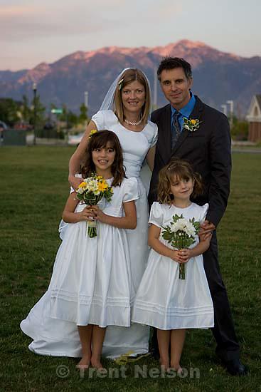 Maddie Quayle, Dave Scott wedding.Monday August 3, 2009 in South Jordan. drew, parker