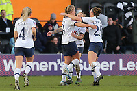Rianna Dean of Tottenham Hotspur women is congratulated after scoring the second goal during Tottenham Hotspur Women vs West Ham United Women, Barclays FA Women's Super League Football at the Hive Stadium on 12th January 2020