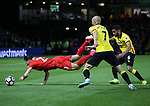 Liverpool's Emre Can goes down under the challenge of Watford's Adrian Mariappa during the Premier League match at Vicarage Road Stadium, London. Picture date: May 1st, 2017. Pic credit should read: David Klein/Sportimage