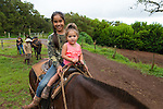 The Kalaupapa Guided Mule Ride on the island of Molokai, Hawaii, USA