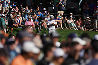 Rickie Fowler (USA) and Hideki Matsuyama (JPN) on the 17th tee during the 3rd round at the PGA Championship 2019, Beth Page Black, New York, USA. 19/05/2019.<br /> Picture Fran Caffrey / Golffile.ie<br /> <br /> All photo usage must carry mandatory copyright credit (© Golffile | Fran Caffrey)