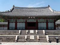 Haupthalle Sungjeongjeon im Gyeonghuigung Palast in Seoul, S&uuml;dkorea, Asien<br /> Main hall  Sungjeongjeon of palace Gyeonghuigung, Seoul, South Korea, Asia