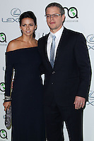 BURBANK, CA - OCTOBER 19: Luciana Damon, Matt Damon at the 23rd Annual Environmental Media Awards held at Warner Bros. Studios on October 19, 2013 in Burbank, California. (Photo by Xavier Collin/Celebrity Monitor)
