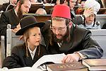 Israel, Jerusalem. Purim at Yeshuot Ya?acov Synagogue in the Me?a She?arim quarter, 2005<br />
