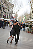 A couple dances for spectators on La Rambla, the cultural boulevard of Barcelona, Spain. Photo by Kevin J. Miyazaki/Redux