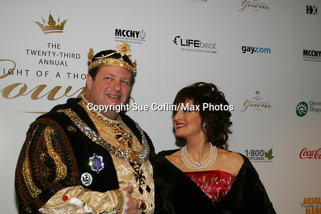 One Life To Live's Robin Strasser poses w/Craig Hollywood at The Imperial Court of New York as it presents 23rd Annual Night of a Thousand Gowns Charity Ball and Auction to benefit LIFEbeat (Music Industry Fights AIDS) and MCCNY Homeless Youth Services on March 21, 2009 at the New York Marriott Marquis, New York City, NY. Robin is wearing Vivaldi NYC and makup by Christopher. Robin came on stage to show two items for auction - Robin Strasser portrait shown off by Torez Bandeira and Jase Woodruff and Susan Lucci, winning Emmy, on the cover of People Magazine. (Photo by Sue Coflin/Max Photos)