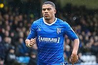 Bradley Garmston of Gillingham during the Sky Bet League 1 match between Gillingham and Fleetwood Town at the MEMS Priestfield Stadium, Gillingham, England on 27 January 2018. Photo by David Horn.