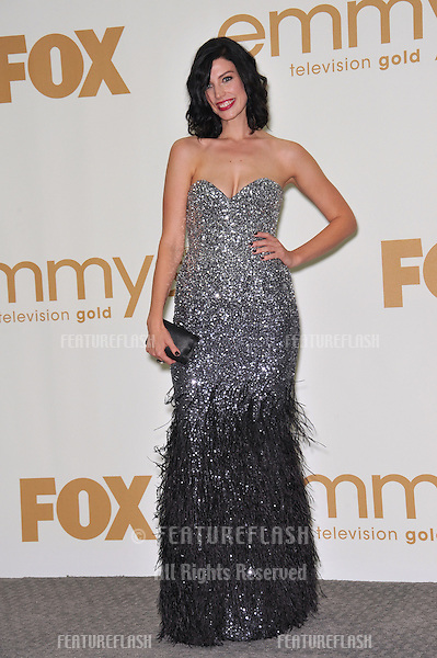 Mad Men star Jessica Pare in the press room at the 2011 Primetime Emmy Awards at the Nokia Theatre L.A. Live in downtown Los Angeles..September 18, 2011  Los Angeles, CA.Picture: Paul Smith / Featureflash