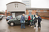 Group of teenagers with Youth Worker getting into car. Cleared for Mental Health Issues.