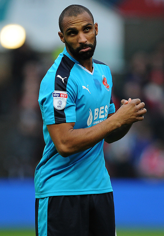 Fleetwood Town's Nathan Pond in action <br /> <br /> Photographer Ashley Crowden/CameraSport<br /> <br /> Emirates FA Cup Third Round - Bristol City v Fleetwood Town - Saturday 7th January 2017 - Ashton Gate - Bristol<br />  <br /> World Copyright &copy; 2017 CameraSport. All rights reserved. 43 Linden Ave. Countesthorpe. Leicester. England. LE8 5PG - Tel: +44 (0) 116 277 4147 - admin@camerasport.com - www.camerasport.com