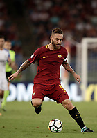 Calcio, Serie A: Roma, stadio Olimpico, 26 agosto, 2017.<br /> AS Roma's captain Daniele De Rossi in action during the Italian Serie A football match between Roma and Inter at Rome's Olympic stadium, AUGUST 26, 2017.<br /> UPDATE IMAGES PRESS/Isabella Bonotto