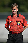 16 September 2005: Match referee Daniel Burak. The North Carolina Tarheels defeated the San Diego Toreros 3-0 at Duke University's Koskinen Stadium in Durham, NC in a NCAA Division I women's soccer game.