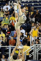 6 December 2008:  FIU cheerleaders entertain the crowd during a time-out in the FIU 27-3 victory over Western Kentucky at FIU Stadium in Miami, Florida.