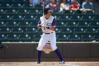Zach Remillard (7) of the Winston-Salem Dash at bat against the Buies Creek Astros at BB&T Ballpark on July 15, 2018 in Winston-Salem, North Carolina. The Dash defeated the Astros 6-4. (Brian Westerholt/Four Seam Images)