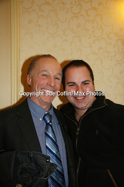 Kenneth Del Vecchio poses with Jackie Martling, new spokesperson & host of the Hoboken International Film Festival and the new indie film An Affirmative Act! - a groundbreaking gay marriage courtroom drama on January 21, 2010 at the Marriott Saddle Brook, Saddle Brook, NJ. (Photo by Sue Coflin/Max Photos)