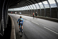 Carlos Verona (ESP/Movistar) in a tunnel 2 km from the finish in Val thorens<br /> <br /> shortened stage 20: Albertville to Val Thorens (59km in stead of the original 130km due to landslides/bad weather)<br /> 106th Tour de France 2019 (2.UWT)<br /> <br /> ©kramon