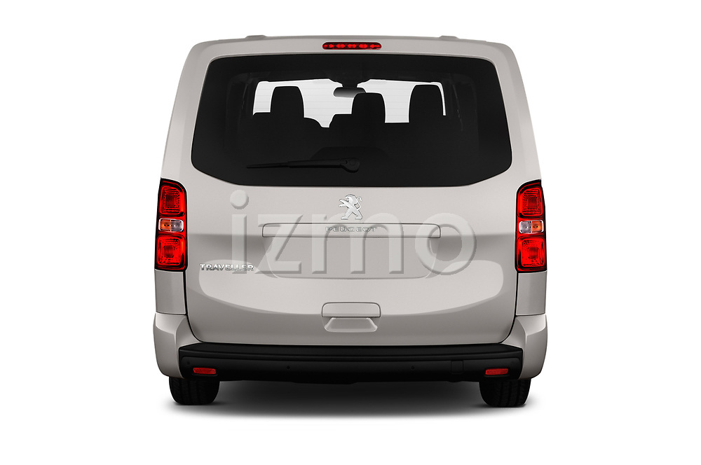 Straight rear view of a 2018 Peugeot Traveller Business 4 Door Mini Van stock images