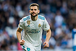 Nacho Fernandez of Real Madrid celebrates during the La Liga 2017-18 match between Real Madrid and RC Deportivo La Coruna at Santiago Bernabeu Stadium on January 21 2018 in Madrid, Spain. Photo by Diego Gonzalez / Power Sport Images