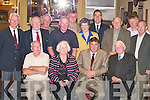 Members of the 1967-71 Fossa rowing crew who were honoured by the Killarney Regatta Club in the Old Killarney Inn, Aghadoe last Monday night. Front row l-r: Sean Myers, Rose Cunningham (representing Robin Hilliard), Pat Cronin Chairman Killarney Regatta Club, Tom Murphy President Killarney Regatta Club. Back row: Raymond Coffey, Michael Fleming, Donie Myers, Michael Myers, Donal O'Mahony, Ciss  Cronin (representing Eugene Cronin), Jim Fleming, Charlie Talbot, Liam Fleming and Brendan Lynch