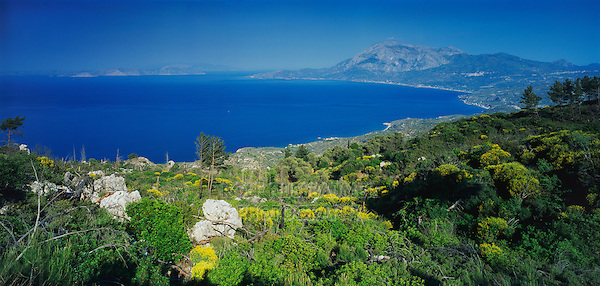 Ocean view, Samos, Greek Islands, Eastern Aegean Islands, Greece, Europe