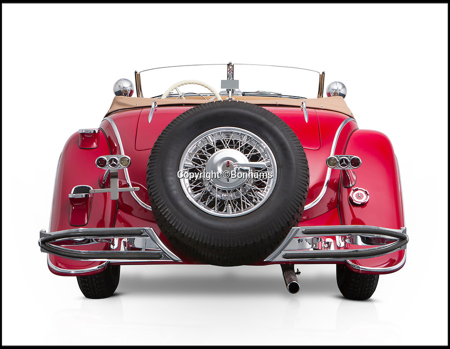 BNPS.co.uk (01202 558833)<br /> Pic: Bonhams/BNPS<br /> <br /> A magnificent Mercedes car taken as the spoils of war by an Allied soldier in Germany is to be sold for an estimated £6m after a court ruling returned it to the grandchildren of its original owner.<br /> <br /> The 1935 Mercedes-Benz 500K Special Roadster spent 70 years in the US before it was bought by a Dutch car enthusiast who took it to Germany.<br /> <br /> The car was seized on behalf of the relatives in German industrialist Hans Prym and a court later ruled they were the rightful owners. They are now selling at auctioneers Bonhams.