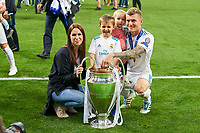 Jessica Farber, wife of  Toni KROOS, Real Madrid 8 <br /> REAL MADRID - FC LIVERPOOL<br /> Football UEFA Champions League, Finale, Kiew, Ukraine, May 26, 2018<br /> CL Season 2017 2018<br />  <br />  *** Local Caption *** © pixathlon<br /> Contact: +49-40-22 63 02 60 , info@pixathlon.de